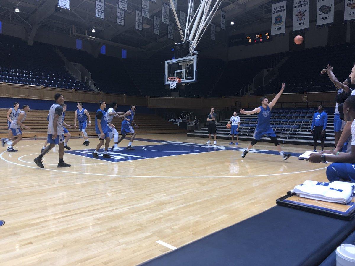 Duke basketball getting ready for the season. Big, athletic and great kids #HereComesDuke