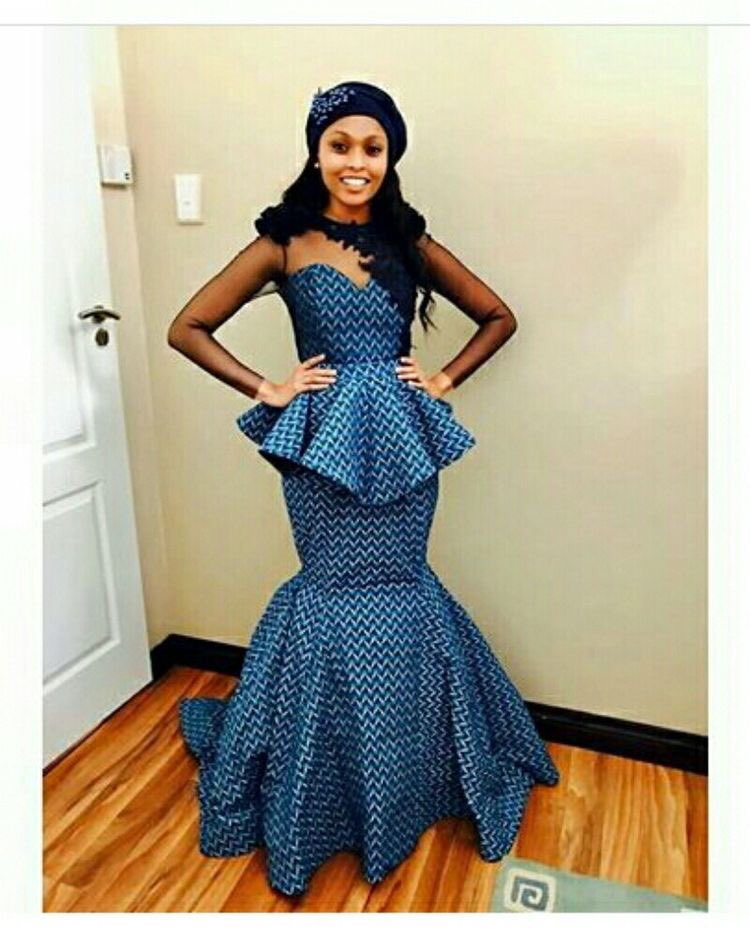 "Queen Makeda On Twitter: ""Seshweshwe Print Wedding Dress"