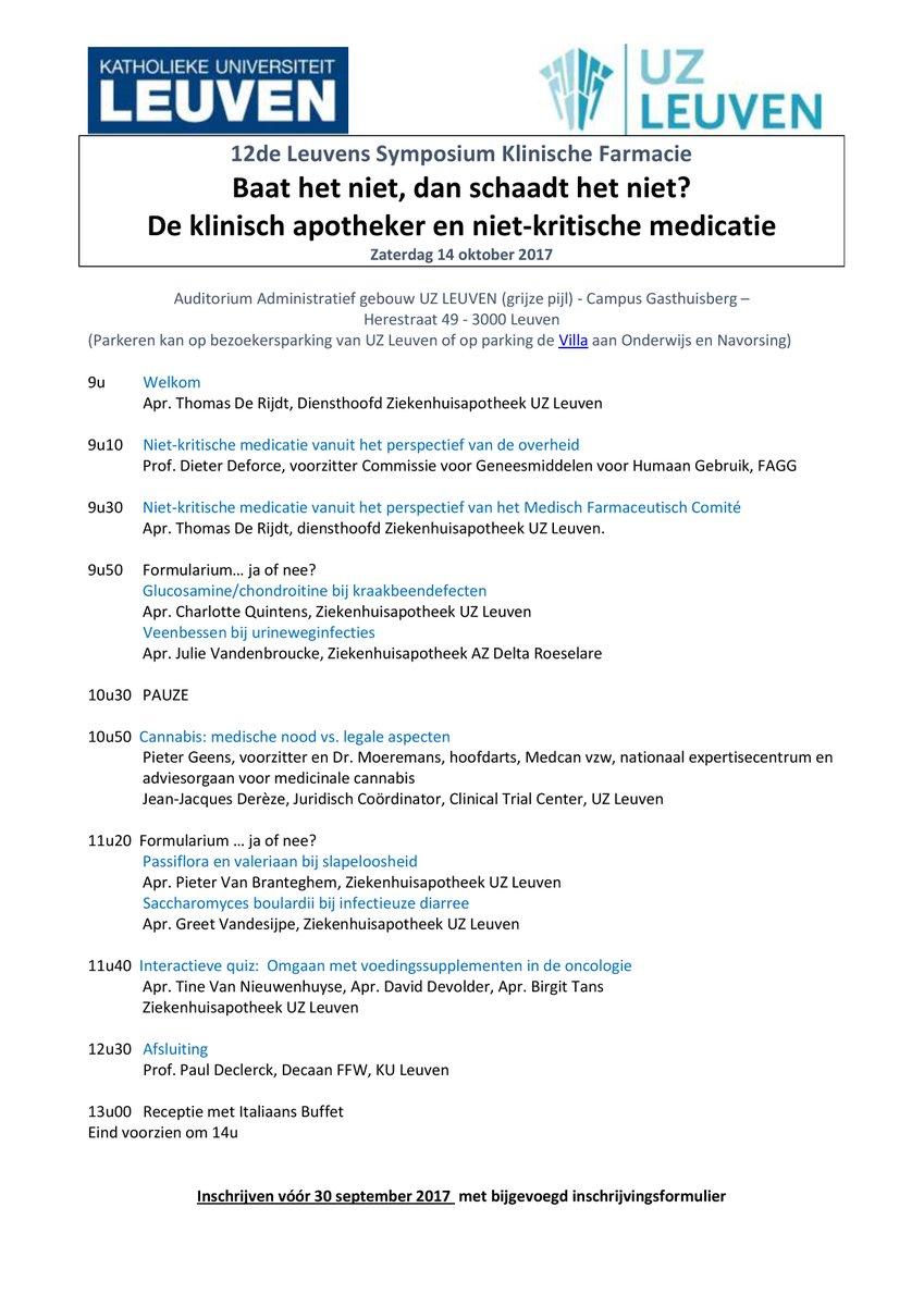 Thomas De Rijdt On Twitter Hospitalpharmacists At Uzleuven Organize