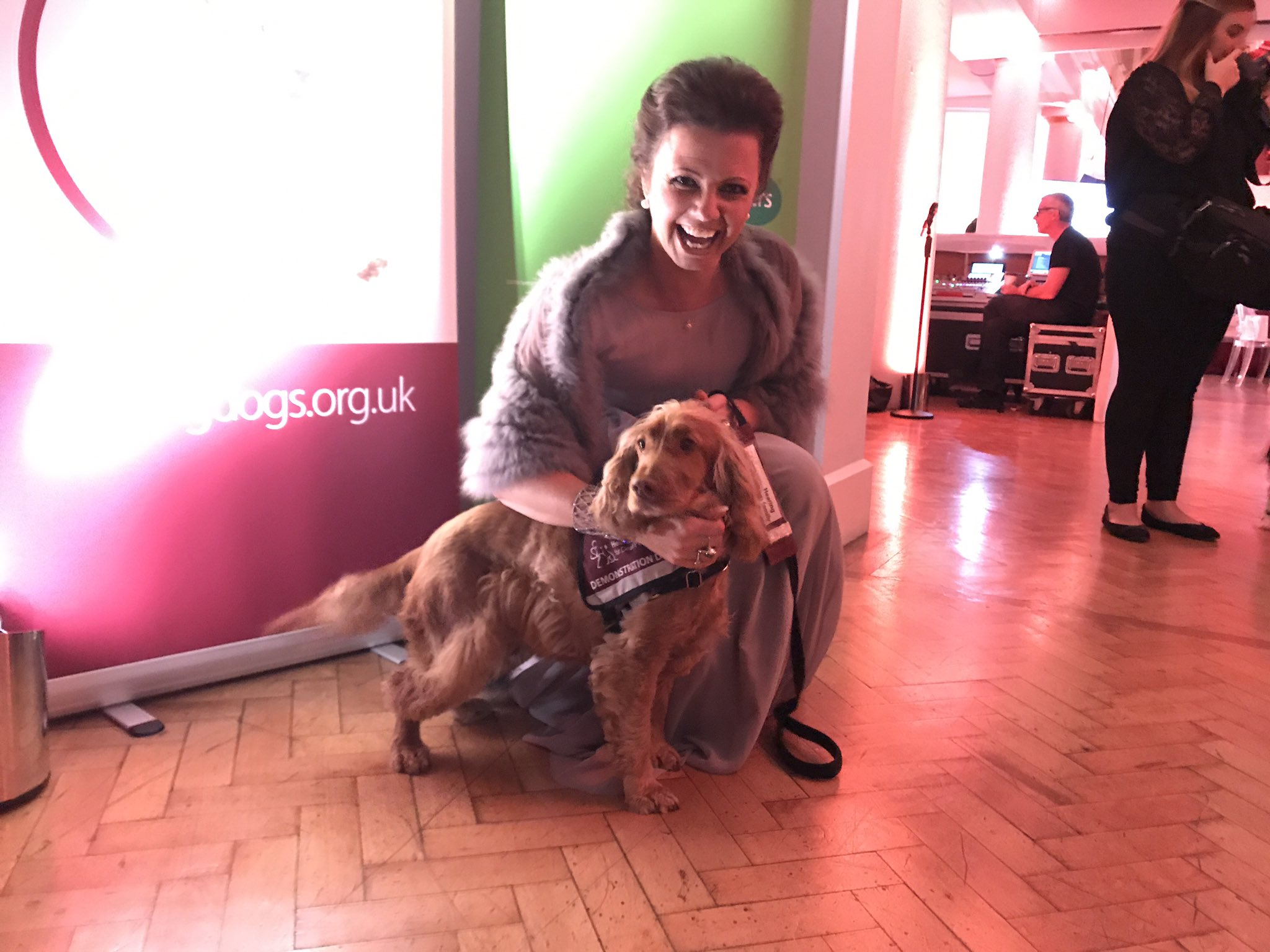 RT @HearingDogs: Karen Hardy from @bbcstrictly enjoyed a cuddle from demonstration dog Rose! #hearingdogsawards https://t.co/Wc8LbBVPCp