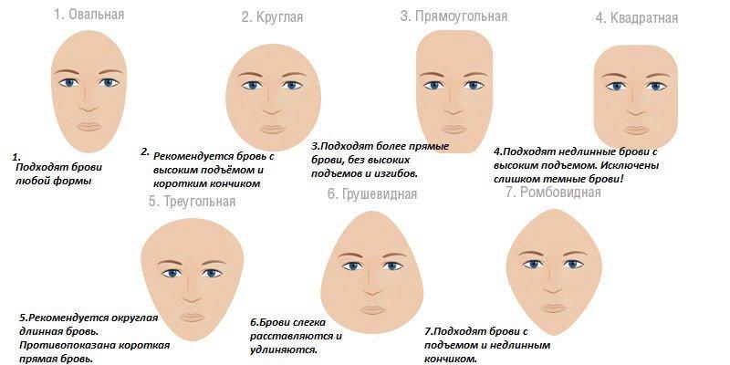 Формы лица характеристика