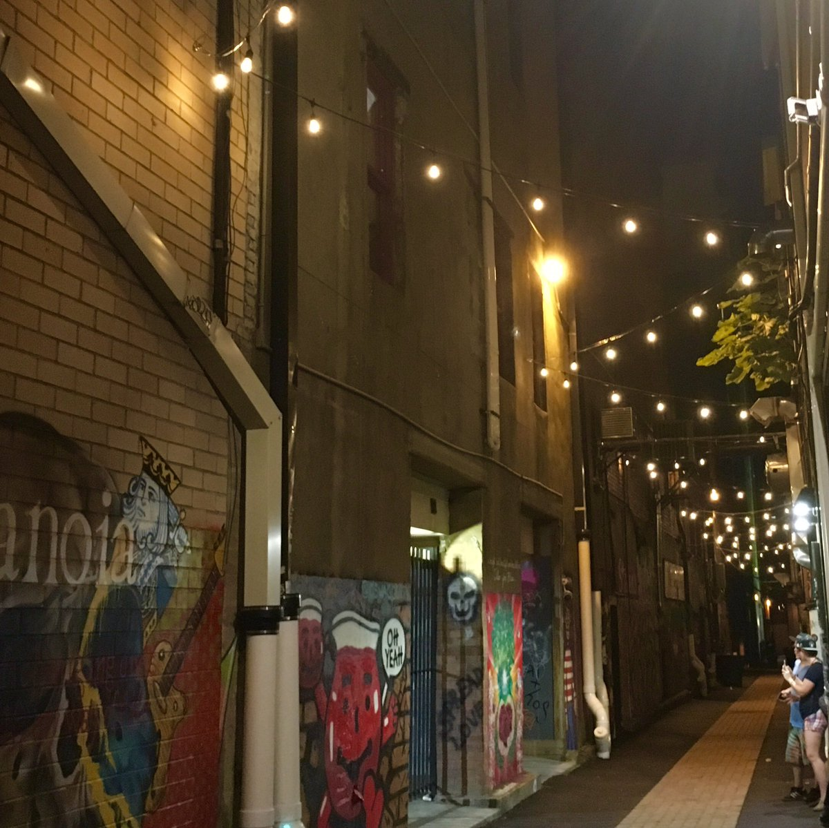 Art Alley has gotten a bit of a facelift. New paving and new lights! https://t.co/Ro2SweQd0k