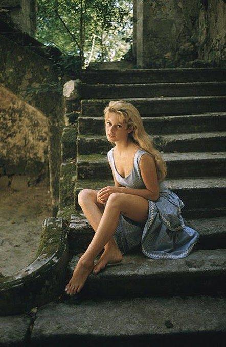 Happy birthday to Brigitte Bardot. Photo by Mark Shaw, 1956.