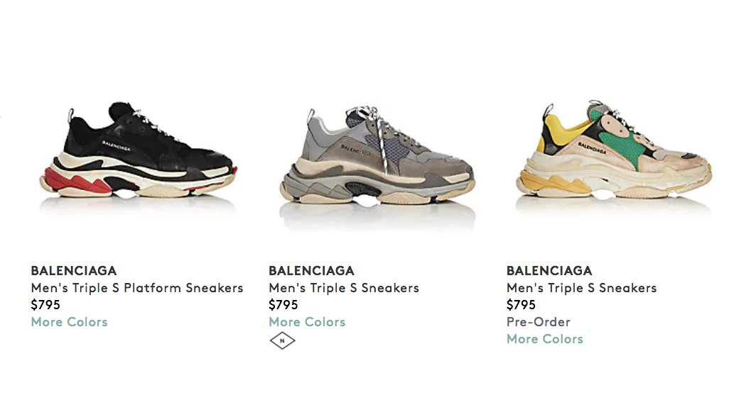 balenciaga triple s mens 2016