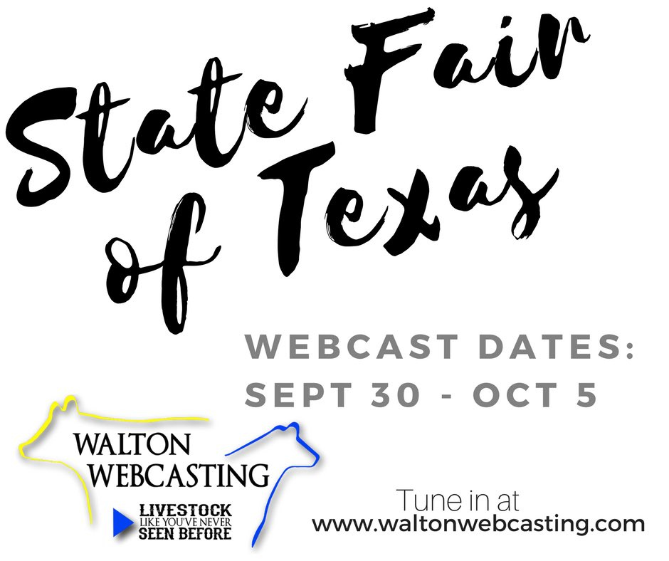 Walton webcasting waltonwebcast s twitter profile twicopy state fair of texas webcasts start on saturday september 30 dont miss out junglespirit Choice Image