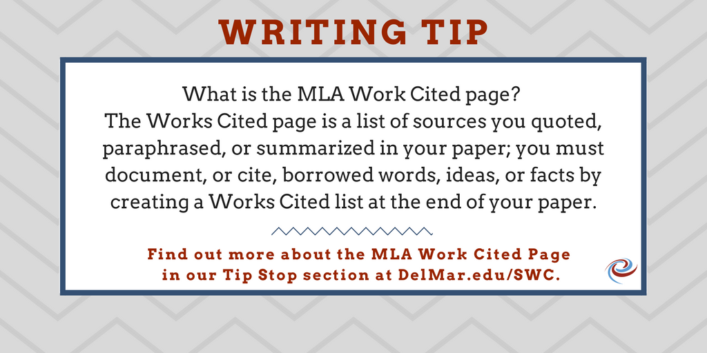 how to creat a works cited page