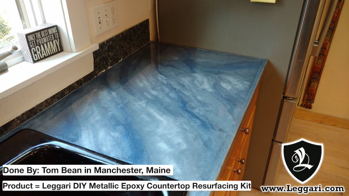 Leggari Products On Twitter Beautiful Countertops Silver Base With Pearl White Light Blue Highlights Diy Countertopresurfacing Leggariproducts Blue Epoxy Https T Co A0cqx3kii1