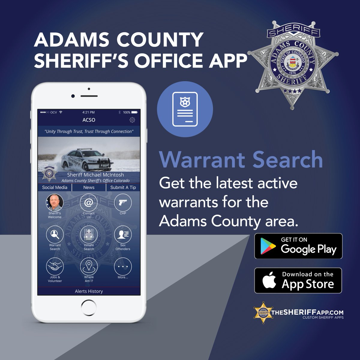 Adams Sheriff's Page on Twitter: