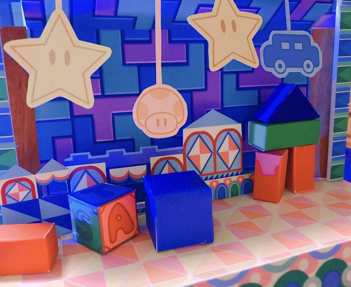 おもちゃ箱も作りました #紙マリペーパークラフト
