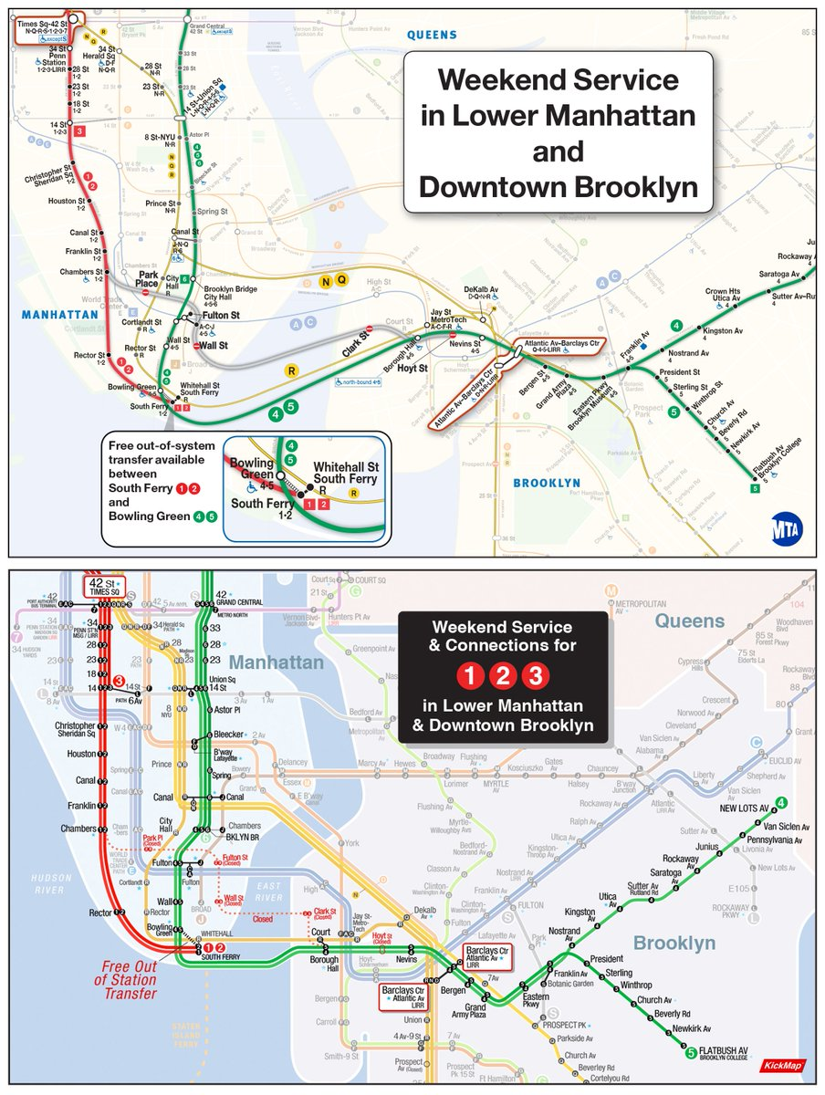 Nyc Subway Map Scan.Kickmap On Twitter Kickmap Mta Comparison Study For Weekend