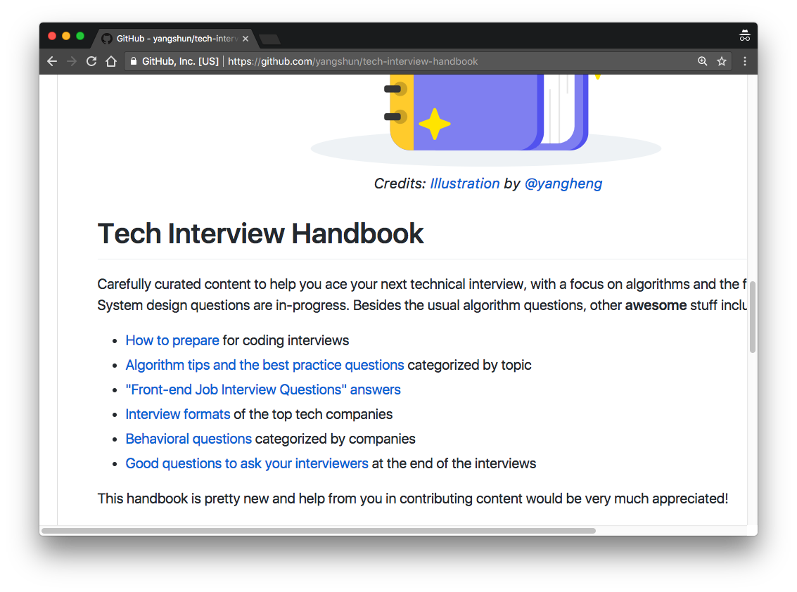 Umar Hansa On Twitter Tech Interview Handbook Https T Co Lrrwmrrju1 Content To Help You Ace Your Next Technical Interview Lots Of Front End Content Here Https T Co Hi0fy1srct