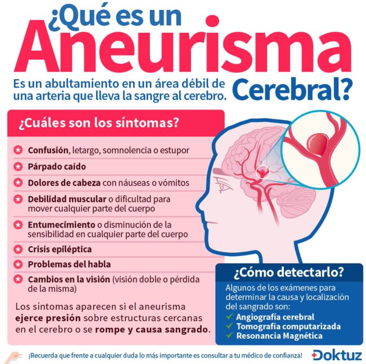 RT @NoInvisibles: ¿Qué es un #aneurisma cerebral? Gracias @Doktuz_Espanol https://t.co/gqdzYkObqi