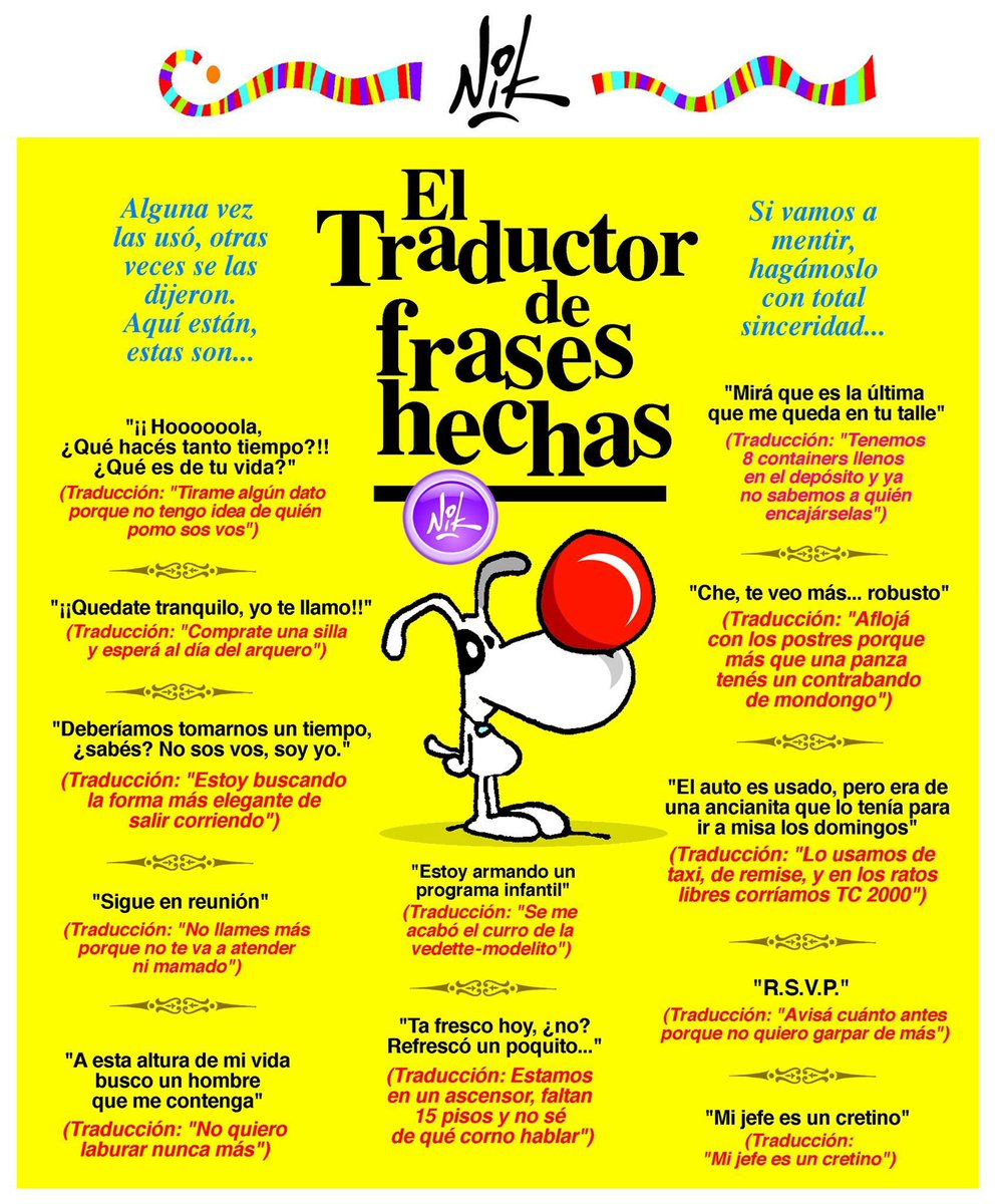 Nik On Twitter Traductor De Frases Hechas