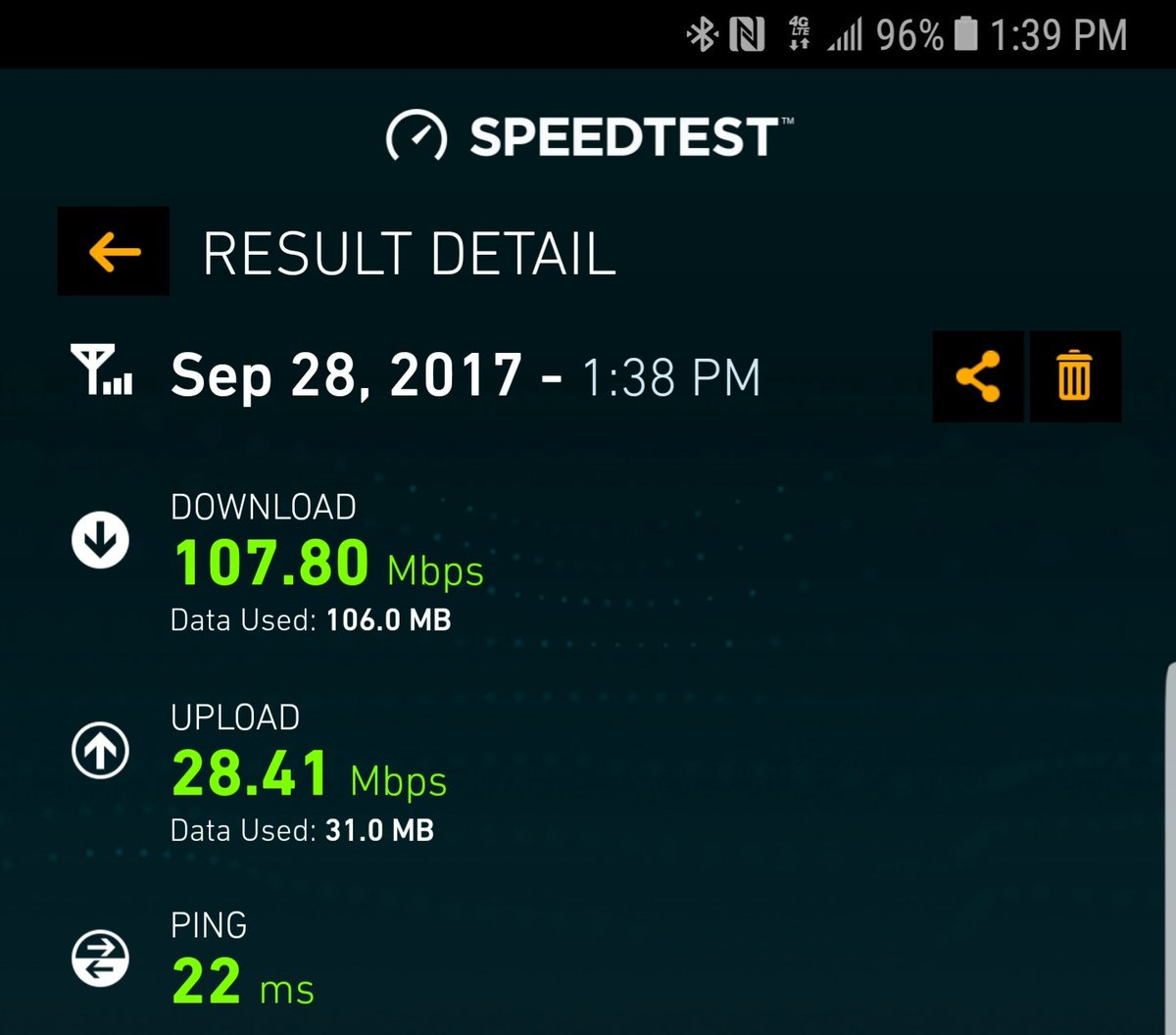 at&t speed test