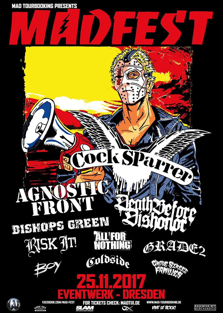 Proud to be a part of this festival with @madtourbooking and our friends @agnosticfront. Tickets available now: madtix.de