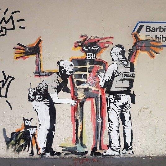 banksy + basquiat https://t.co/z1PxTg702d