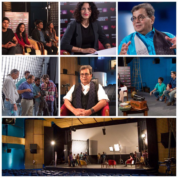 I had to talk most exciting stories behind making of my films,my stars in a documentary being shot @Whistling_Woods https://t.co/JTIWSyNtRn