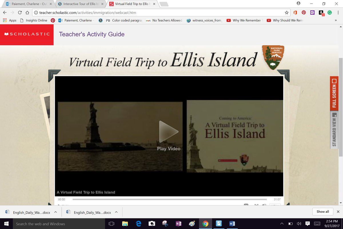 Ellis Island Virtual Tour Field Trip