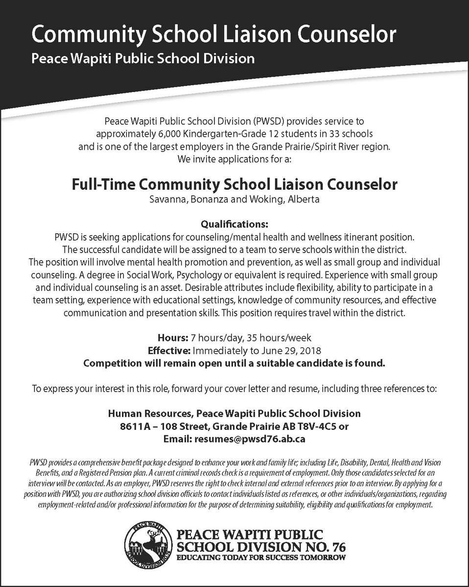 Pwpsd On Twitter Were Hiring Ft Community School Liaison