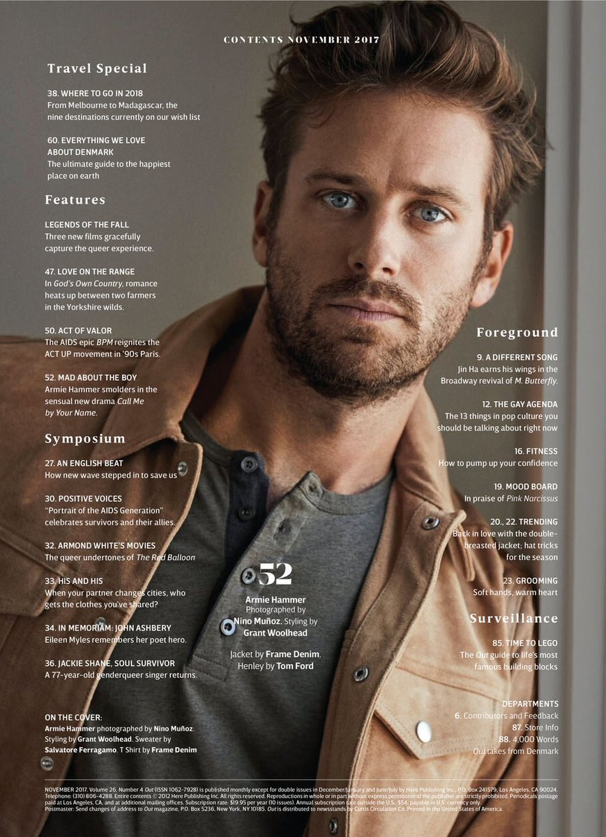 Image result for armie hammer out magazine