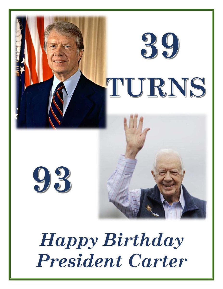 This Sunday..93 cents admission in honor of President Carter's 93rd birthday #39turns93 https://t.co/OJxeaKX6UH