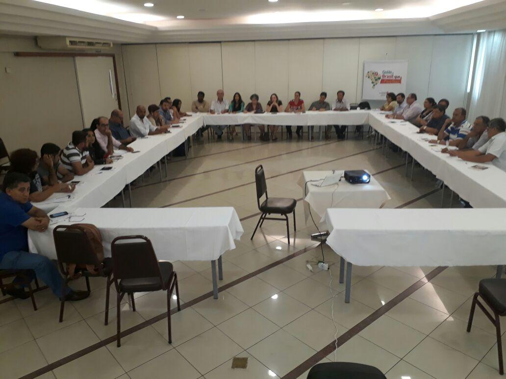 Presidente da @fpabramo, Márcio Pochmann, líderes petistas e movimentos sociais debatem metodologia ao Programa Goiás e Brasil q o Povo Quer
