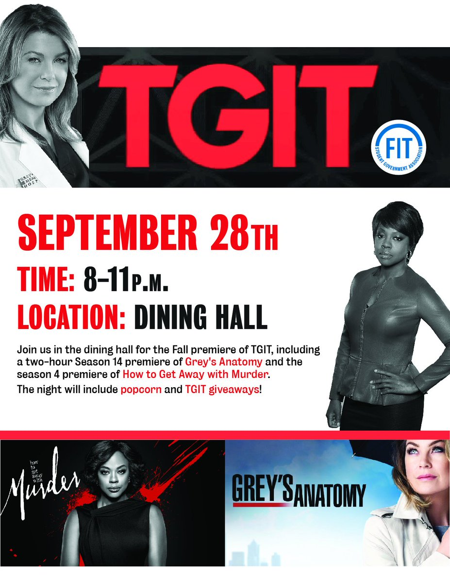 Fit Student Gov On Twitter Join Us For The Fall Premiere Greys
