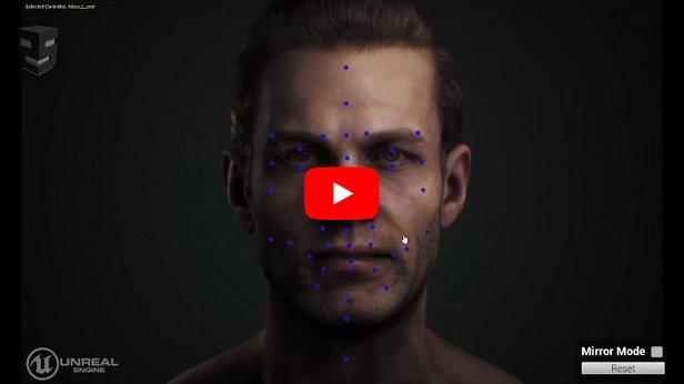 【Maya&UE4用のフェイシャルリグ】Snappers Facial Rig のデモ映像