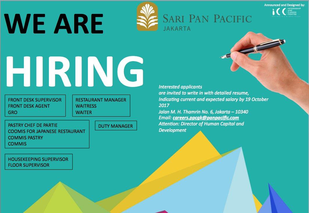 Career Icc On Twitter Career News Sari Pan Pacific Jakarta