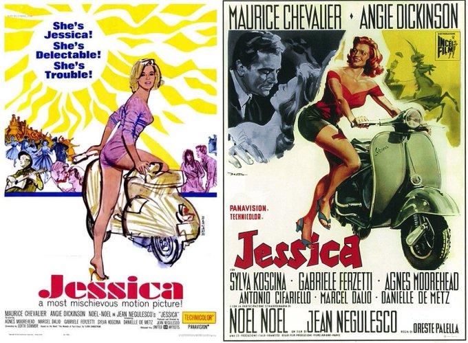 Happy Birthday Angie Dickinson - JESSICA - 1962 - American art by Mitchell Hooks - Italian art by Enrico De Seta