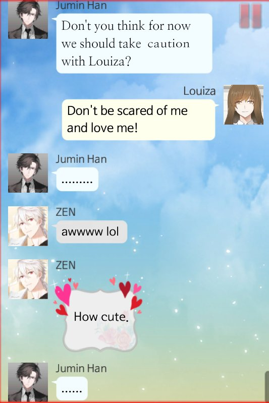 Do not be affraid Juju. #MysticMessenger #Anotherstory #Vroute #MysMes #MM