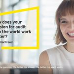 Cheering on #EY #AuditorProud auditors across the globe sharing why a career in Audit is inspiring and exciting : https://t.co/rl5MN00JsE