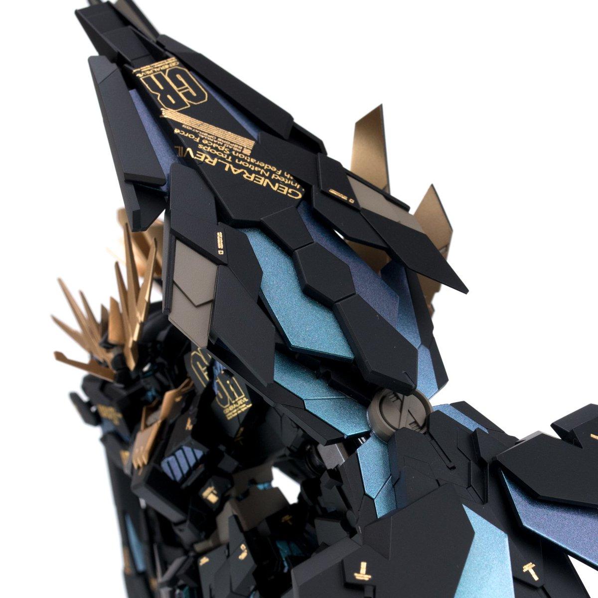 RG ユニコーン改造 『フルアームド・バンシィ・ノルン』完成しました。 RGとHGのミキシング作品です。明日のナゴモ/nagomoで展示予定ですっ! 持つところが殆ど無いw   #ナゴモ6