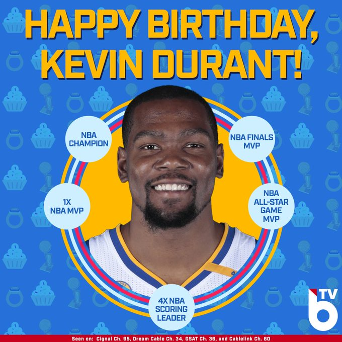Happy 29th Birthday to the one and only, Kevin Durant! Here are some of his highlights over his career!