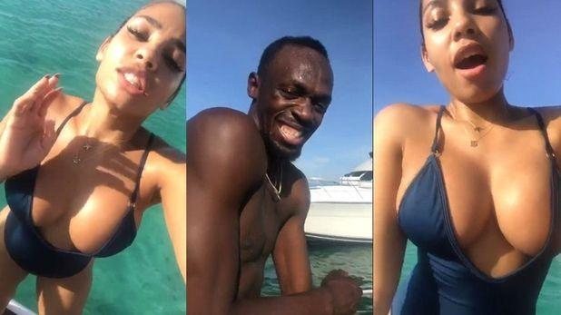 Usain Bolt və sevgilisi Kasi Bennett (foto)