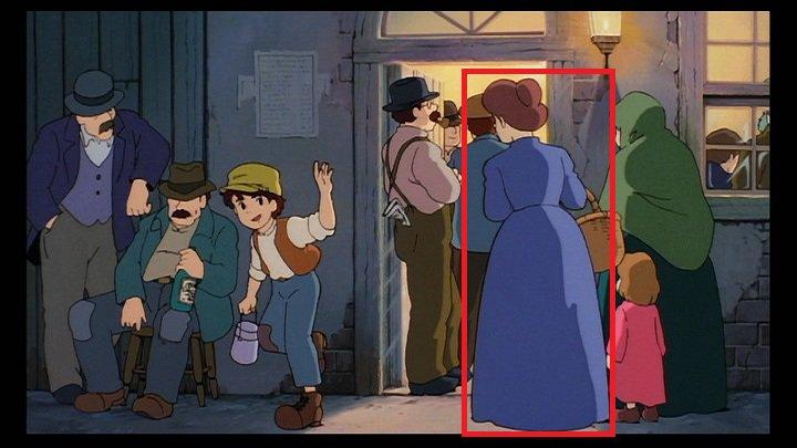 「まだ仕事?」とパズーに声をかける青い服の女性の声は、新人の頃の林原めぐみさんが担当しています。林原さんは本作が劇場アニメ初出演。後に登場するロボット兵が降って来る時に畑にいた女性役も担当しています。 #天空の城ラピュタ #ラピュタ