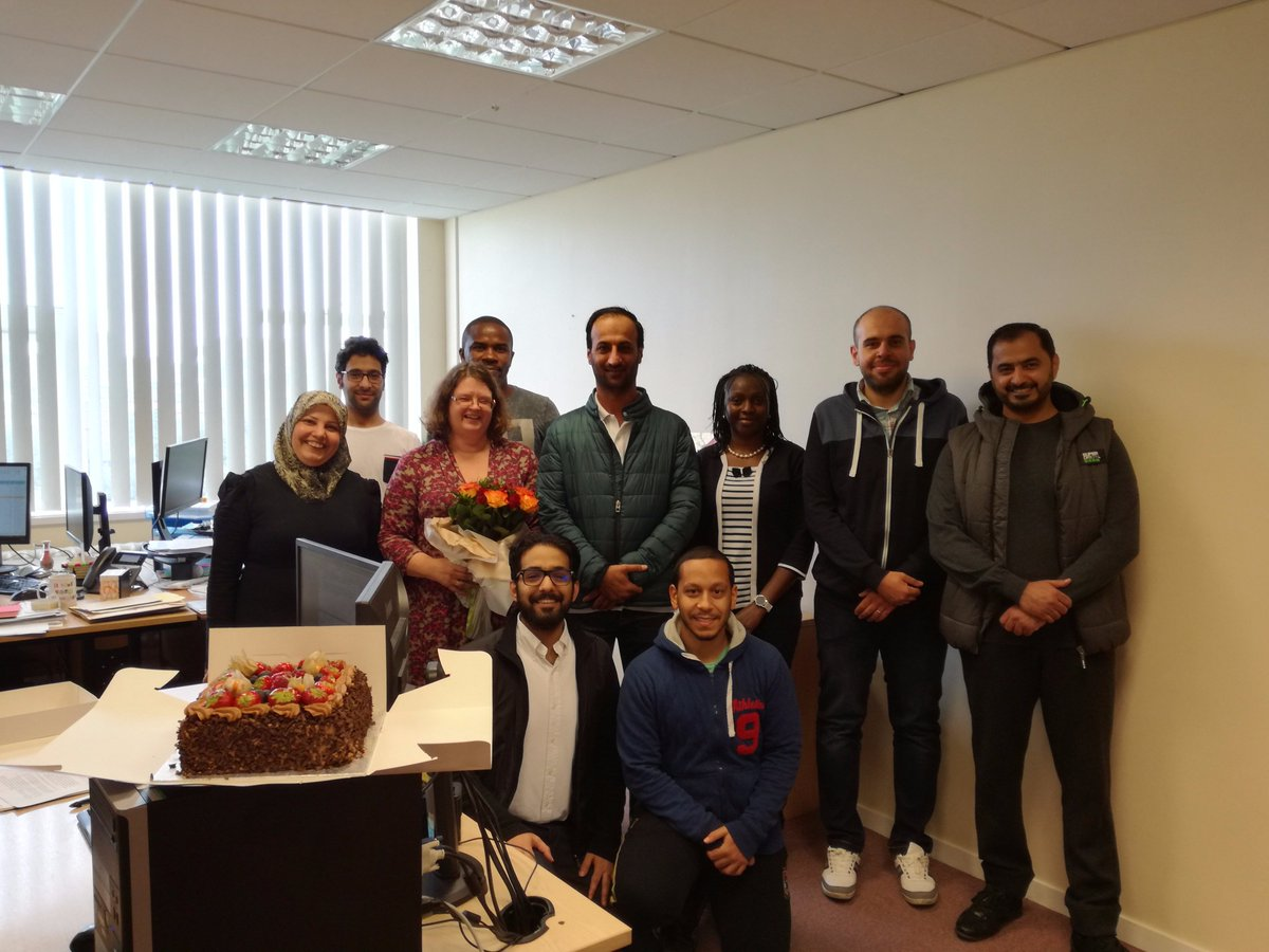 Aren&#39;t our @SOBE_Salford #PGRs lovely? Here they are with our Jill who will be moving office next week. What a fabulous surprise!  <br>http://pic.twitter.com/jq3KTtTMin