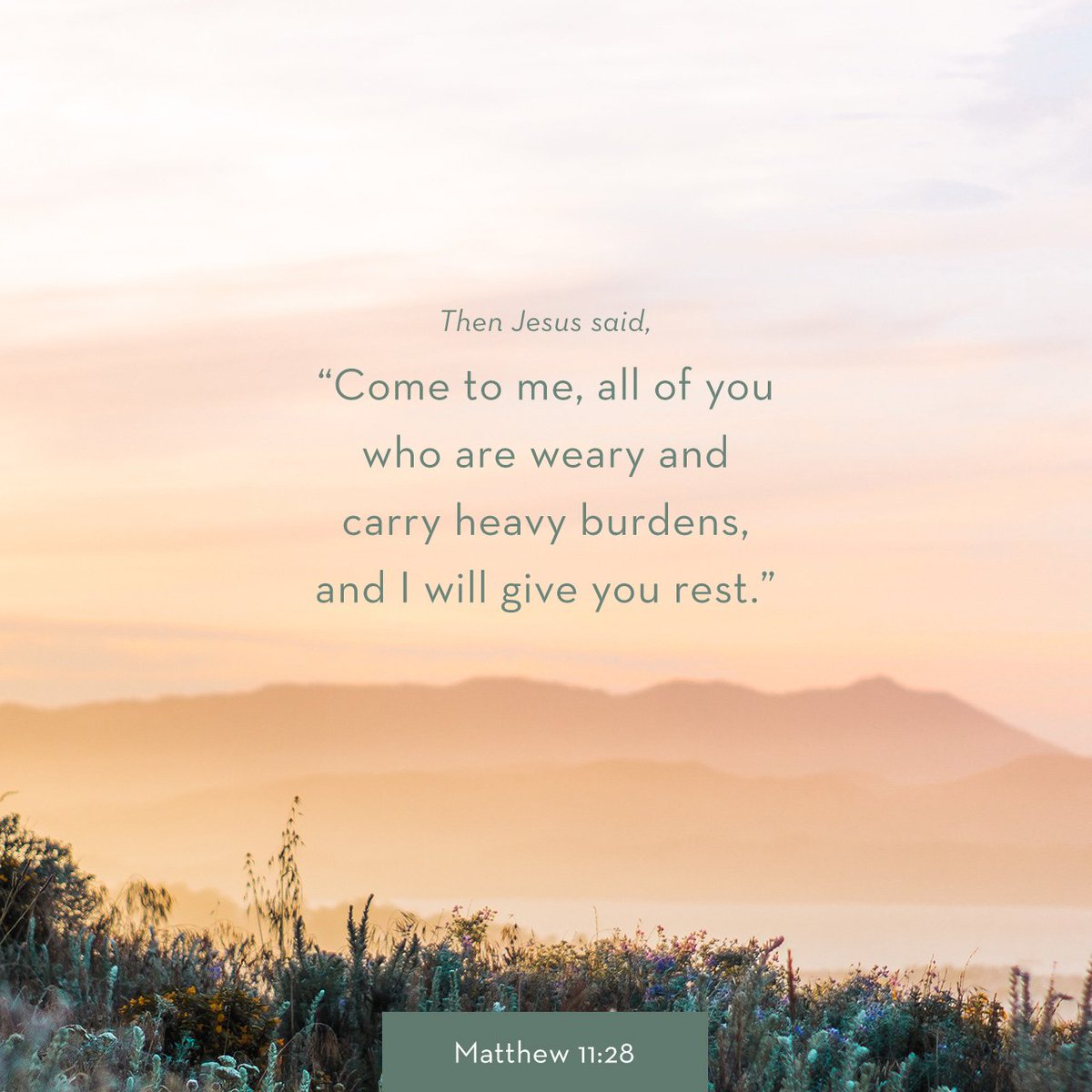"""Then Jesus said,""""Come to me, all of you who are weary and carry heavy burdens, and I will… https://t.co/jxOIghA7sm https://t.co/X459VDLS8S"""