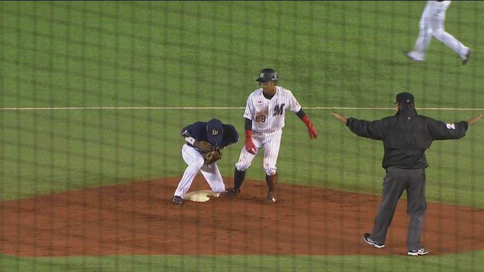千葉ロッテ(@Chiba_Lotte)・大木選手(@IT0207)がプロ初ヒット&プロ初盗塁を記録しました!#chibalotte @Guyners