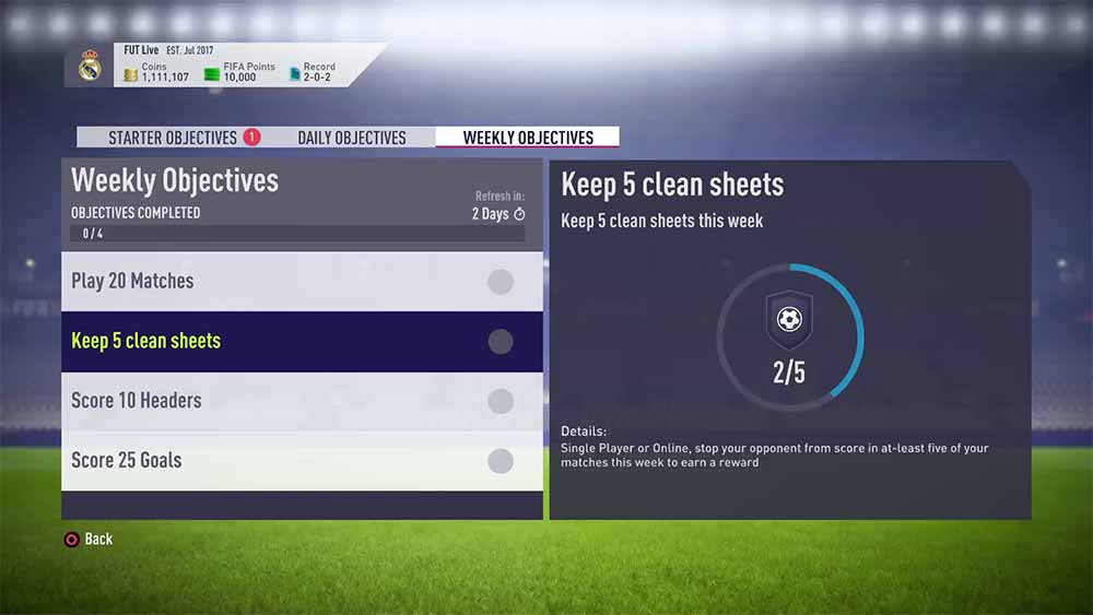 Image result for fifa 18 fut objectives