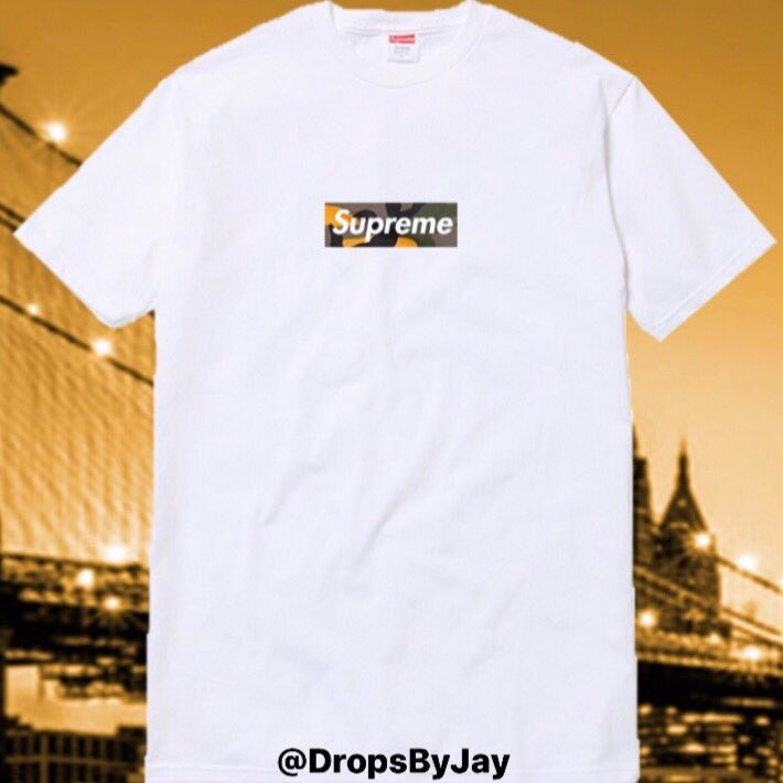 "9fe25f53373 Supreme ""Brooklyn"" Box Logo Tee Set To Drop When The BK Store Opens. I Have  Heard The Box Will Be A Camo Graphic With Writing On The  Backpic.twitter.com  ..."