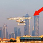 Flying #taxi #drone Volocopter's maiden flight in Dubai. The 2-seater can fly 30 min at top sped of 100 kmh (62 mph) https://t.co/VwANX5i2Xq