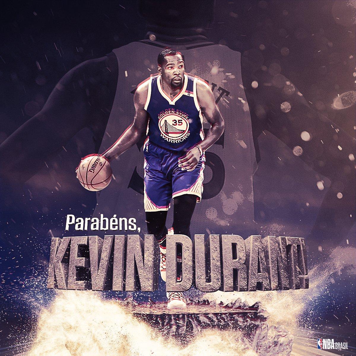 O #MVP das #NBAFinals completa 29 anos! Feliz aniversário, @KDTrey5! #NBABDay