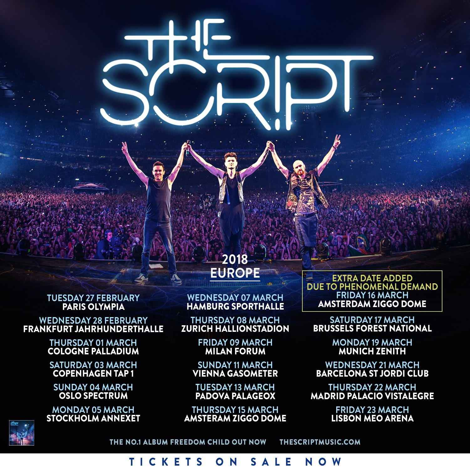 RT @thescript: 🇪🇺 Europe! Our #FreedomChildTour tickets are on sale now!! GO GO GO! https://t.co/87Ns2futgI https://t.co/x2gwwXVRzw
