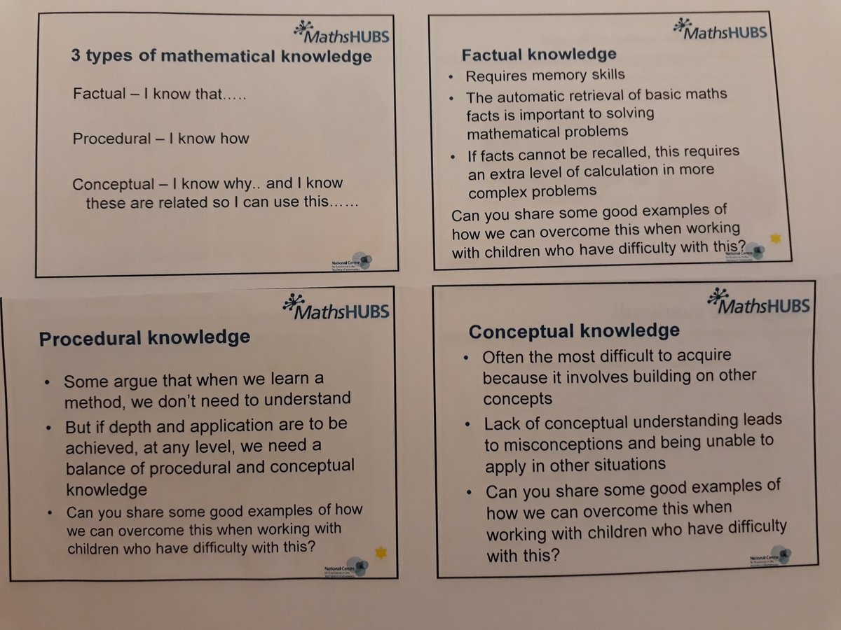Tim Clarke On Twitter Maths Knowledge Factual That Procedural