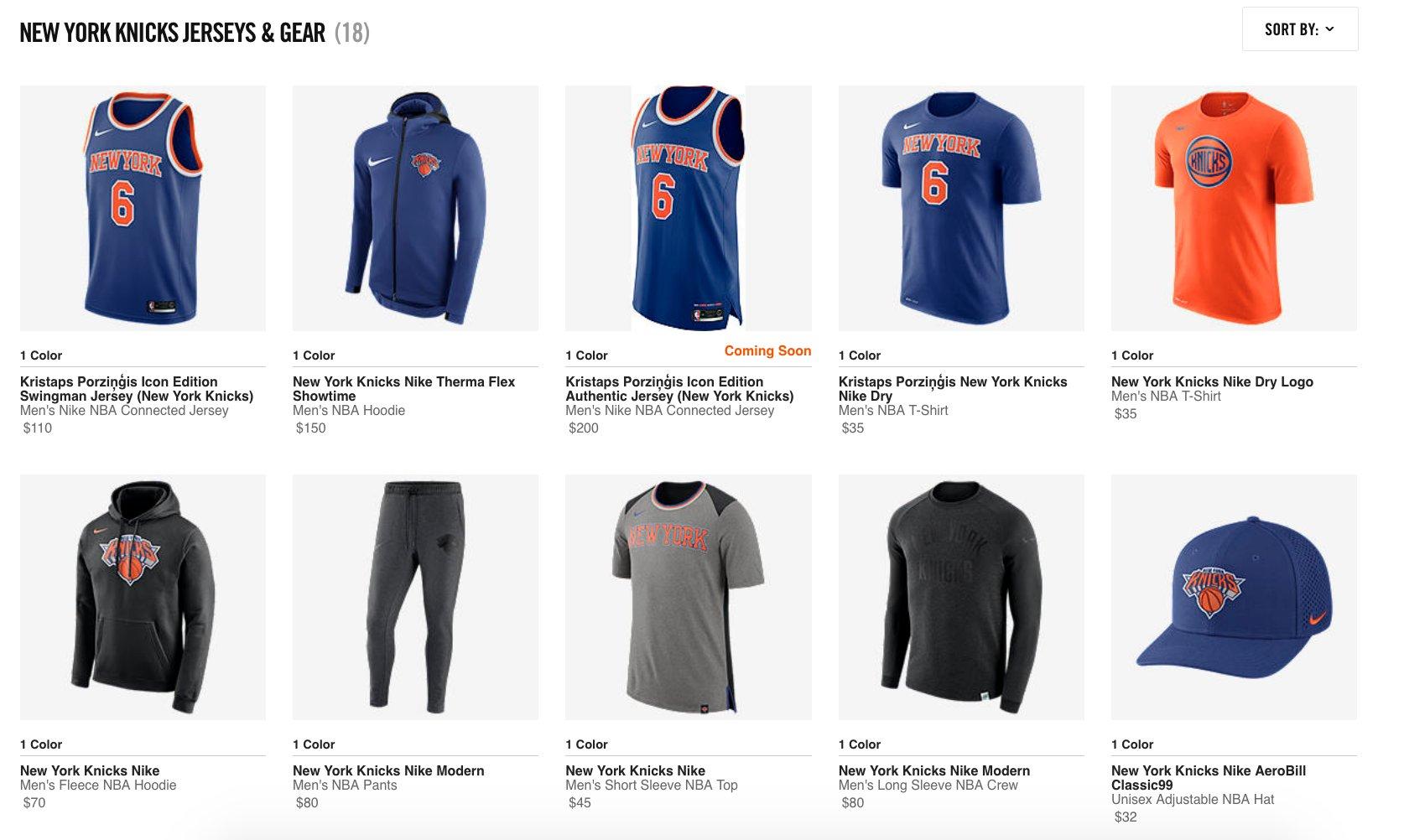 online store 48249 3cab8 New York Knicks T Shirt Jerseys | Azərbaycan Dillər Universiteti