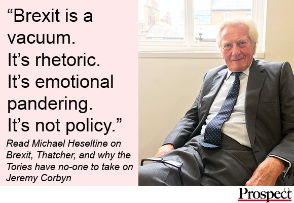 """Michael Hesletine: """"Brexit is a vacuum, not policy"""" https://t.co/rNCxLNL5uy https://t.co/zkHBy4vpVW"""