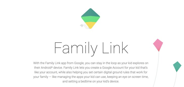 Parental control on google account