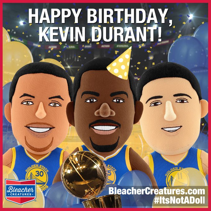 Happy Birthday to NBA Champ and Finals MVP Kevin Durant.