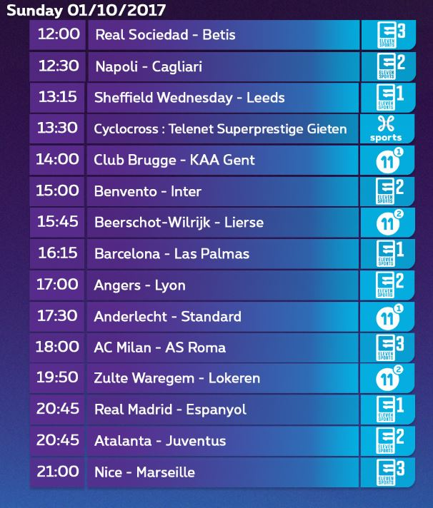 Super Sunday is here. But also lots of other fun with Proximus TV. #pxs11 #clugnt #bewlie #andsta #zwalok<br>http://pic.twitter.com/qjXMpqCpTF